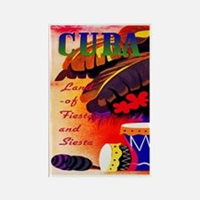 Cuba Travel Poster 3 Rectangle Magnet
