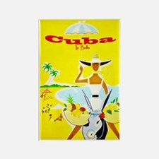 Cuba Travel Poster 4 Rectangle Magnet
