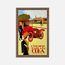 Cuba Travel Poster 10 Rectangle Magnet