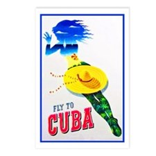 Cuba Travel Poster 7 Postcards (Package of 8)