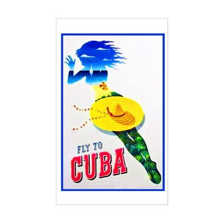 Cuba Travel Poster 7 Sticker (Rectangle)
