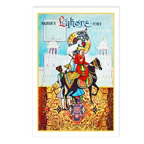 Pakistan Travel Poster 2 Postcards (Package of 8)
