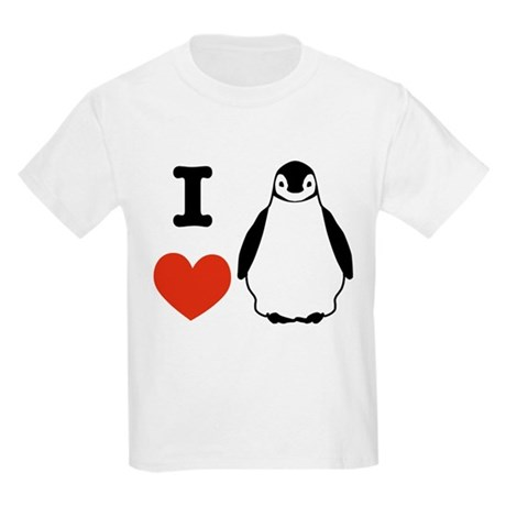 I love Penguins Kids Light T-Shirt