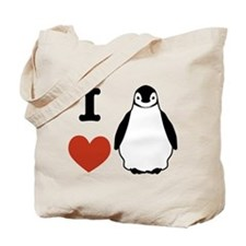 I love Penguins Tote Bag