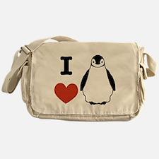 I love Penguins Messenger Bag