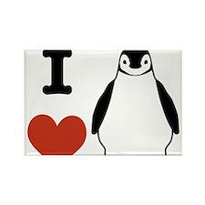 I love Penguins Rectangle Magnet
