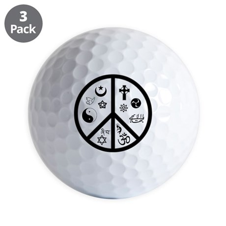 Peaceful Coexistence Golf Balls