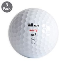 Will You Marry Me? Surprise Golf Ball