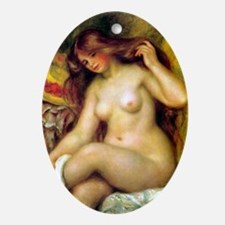 Renoir - Bather with Blonde Hair Ornament (Oval)