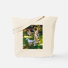 Nude Stewart Nymphs Hunting Tote Bag