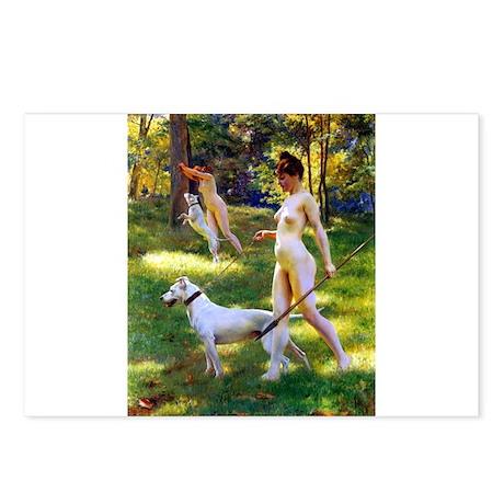Nude Stewart Nymphs Hunting Postcards (Package of