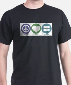 Peace, Love, Equality Ash Grey T-Shirt