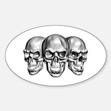 Skulls Oval Decal