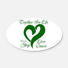 Stop Liver Cancer Oval Car Magnet