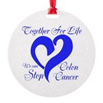 Stop Colon Cancer Round Ornament