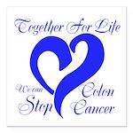 Stop Colon Cancer Square Car Magnet 3