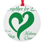 Stop Kidney Cancer Round Ornament