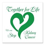 "Stop Kidney Cancer Square Car Magnet 3"" x 3&q"