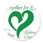 Stop Kidney Cancer Round Car Magnet