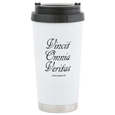 Vincit Omnia Veritas Castle Travel Mug