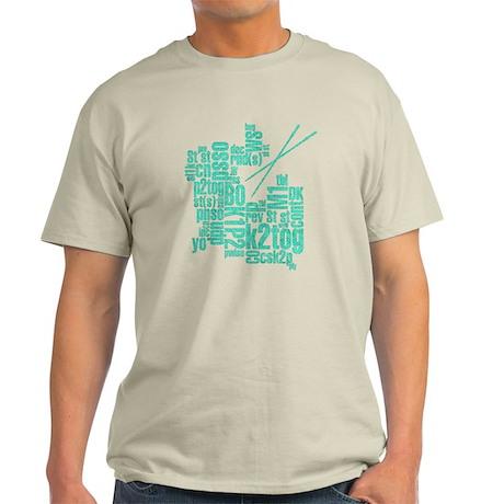 Knitting Abbreviation Cloud Light T-Shirt