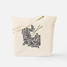 Knitting Abbreviation Cloud Tote Bag