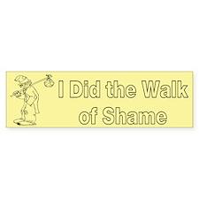 Walk of Shame Custom Bumper Sticker