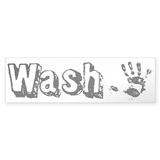 Wash Custom Bumper Sticker