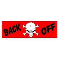 Red Back Off Custom Bumper Sticker