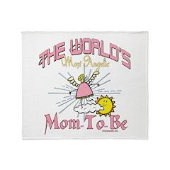 Angelic New Mom Throw Blanket