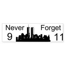 Never Forget 9 11 Custom Bumper Sticker