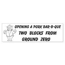 Opening a Pork Barbecue Custom Bumper Sticker