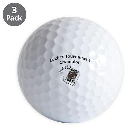 Euchre Tournament Golf Balls