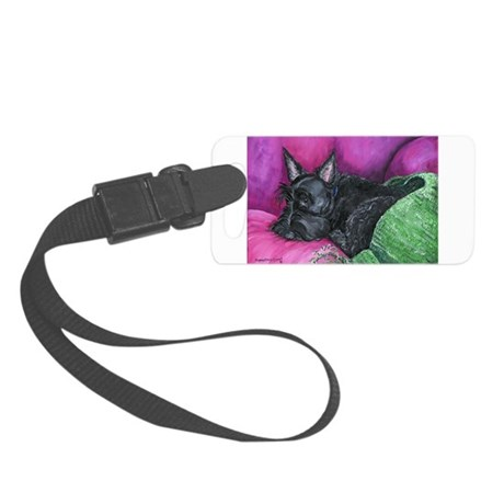 Napping Scottie Small Luggage Tag