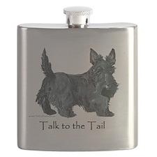 Scottish Terrier Attitude Flask