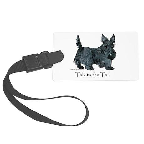 Scottish Terrier Attitude Large Luggage Tag