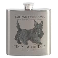 Scottie Logo Tail End Flask