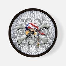 American Pirate Wall Clock