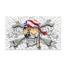 American Pirate Rectangle Car Magnet