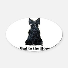 Scottie Bad to the Bone Oval Car Magnet