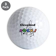 Cleveland Rocks Golf Ball