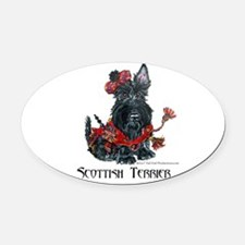 Celtic Scot 11x11.png Oval Car Magnet