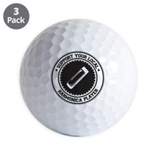 Support Harmonica Player Golf Ball