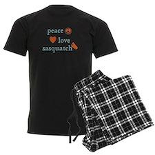 PeaceLoveSasquatch.png Pajamas