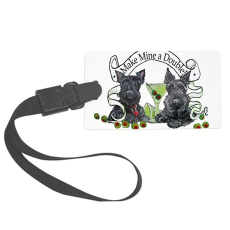 Double Make mine.png Large Luggage Tag