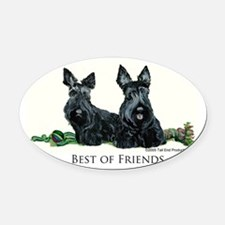 GoodFriends 3x8.png Oval Car Magnet