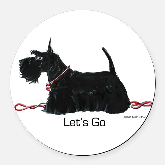 Scottie Let's Go! Round Car Magnet