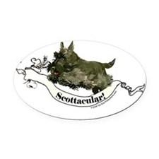 Scottie agility 2.png Oval Car Magnet