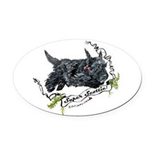 Super Scottie mug.png Oval Car Magnet