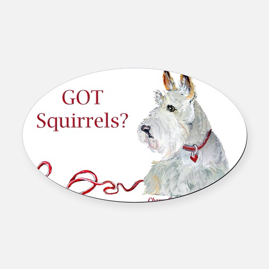 Wheatie Scottie Squirrels Oval Car Magnet